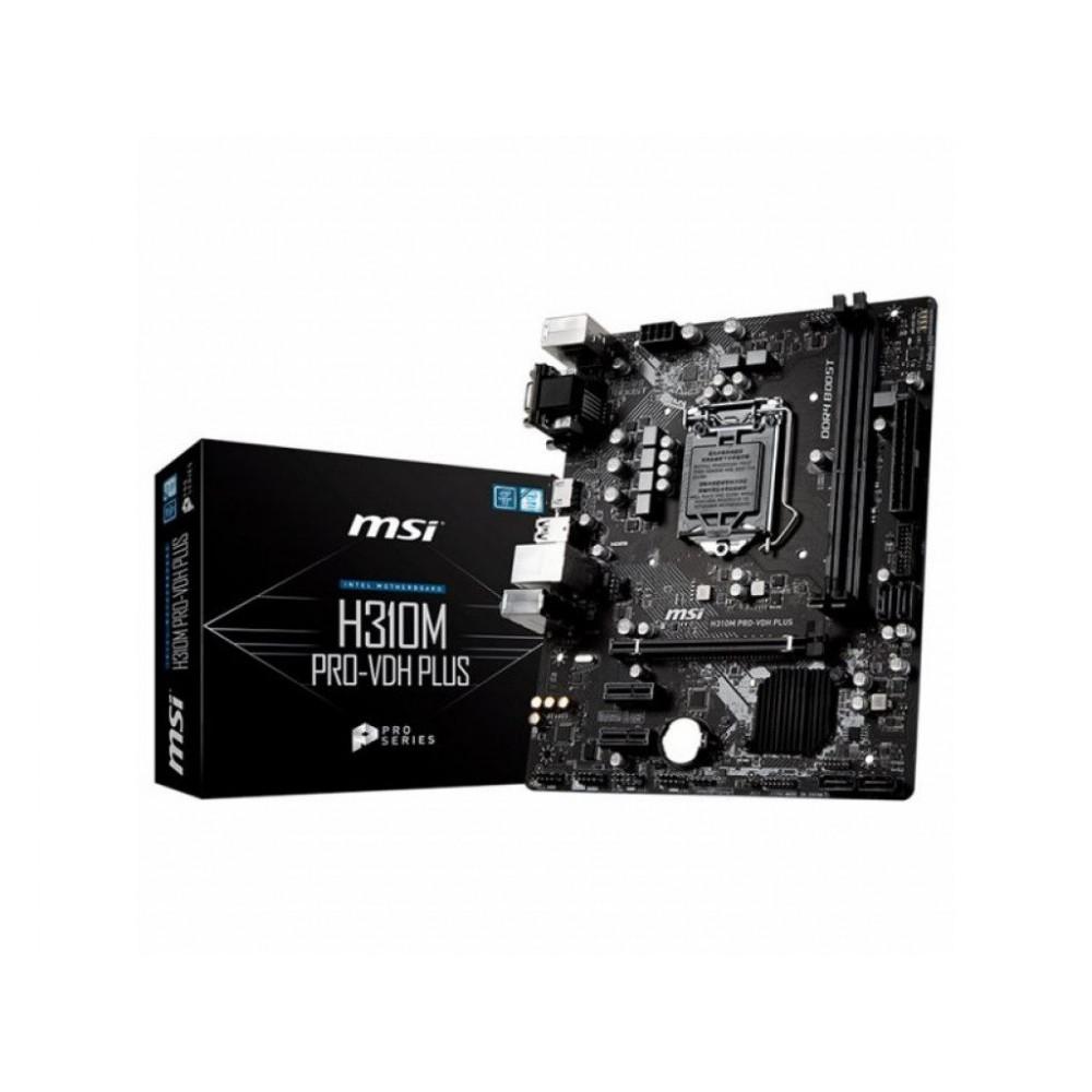 Материнская плата MSI H310M PRO-VDH PLUS (s1151, Intel H310, PCI-Ex16)