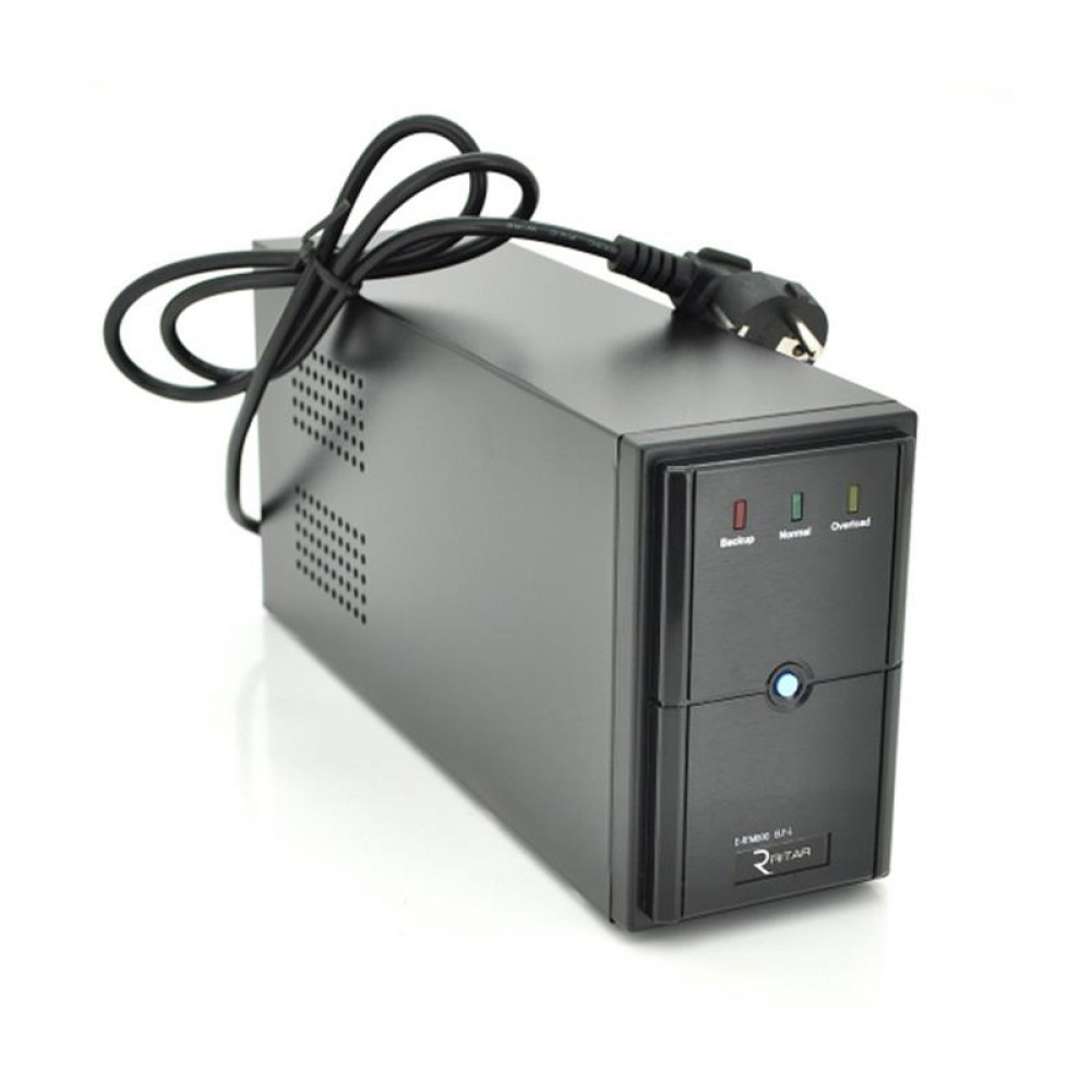 ИБП Ritar E-RTM1000L ELF-L 600W, Lin.int., AVR, 3xSchuko, металл (E-RTM1000/07857)