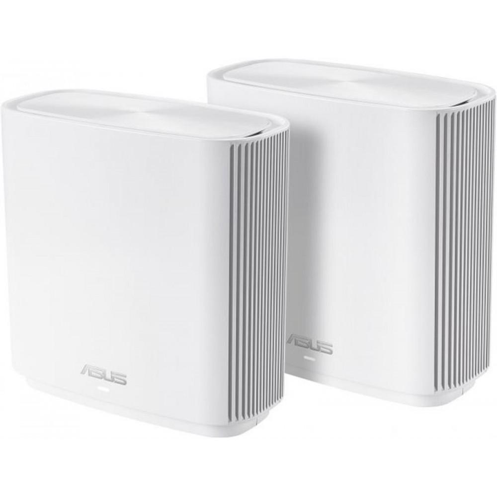 Беспроводной маршрутизатор Asus ZenWiFi CT8 2PK White (AC3000, Tri-Band, 1xGE WAN, 3xGE LAN, 1xUSB3.1, AiMESH, 6x внутр. антенн) (CT8-W-1-PK)