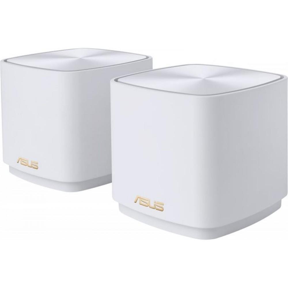 Беспроводной маршрутизатор Asus ZenWiFi XD4 2PK White (AX1800, 1xGE LAN, 1xGE WAN, 2 антенны) (XD4-W-2-PK)