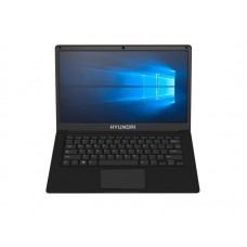 """Ноутбук Hyundai Thinnote-A (L14WB2BK); 14.1"""" (1366x768) TN LED глянцевый / Intel Celeron N3350 (1.1 - 2.4 ГГц) / RAM 4 ГБ / eMMC 64 ГБ / Intel HD Graphics 500 / без ОП / LAN / Wi-Fi / BT / веб-камера / Windows 10 Home / 1.6 кг / черный"""