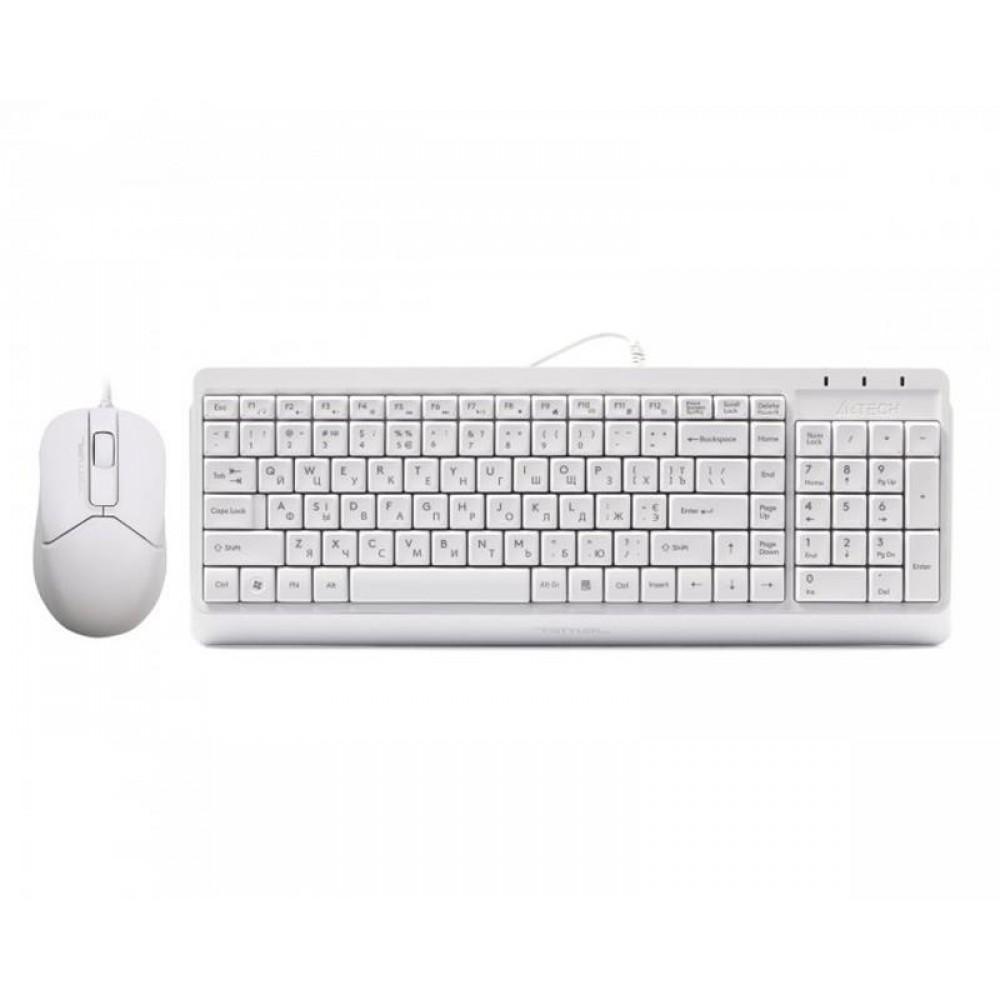 Комплект (клавиатура, мышь) A4Tech F1512 White USB