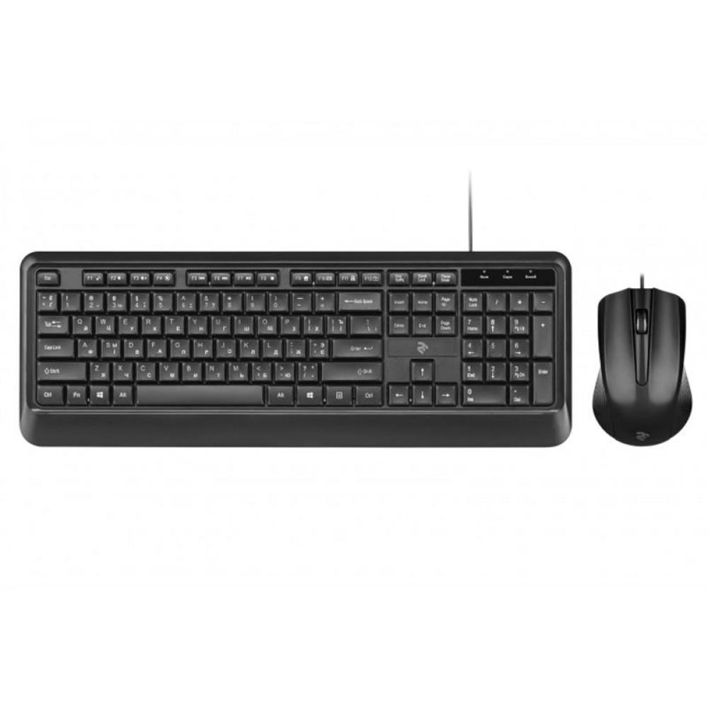 Комплект (клавиатура, мышь) 2E MK404 (2E-MK404UB) Black USB