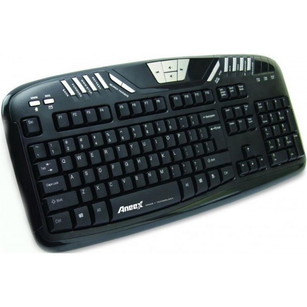 Клавиатура Aneex E-K958 Black USB