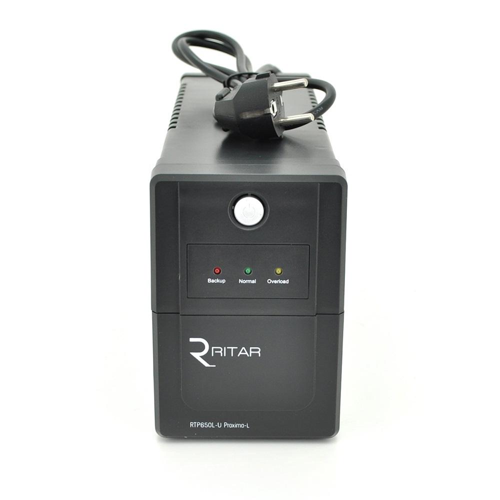 ИБП Ritar RTP650-U Proxima-L 390W, Lin.int., AVR, 2xSchuko, пластик (RTP650L-U/09988)