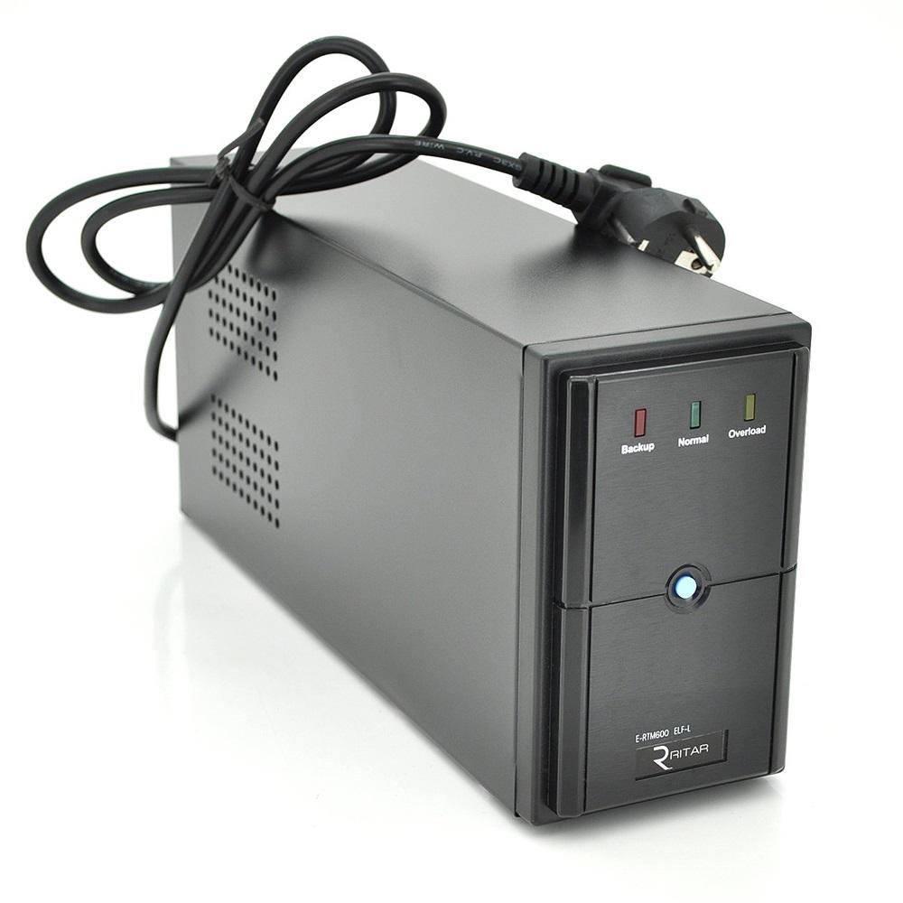 ИБП Ritar E-RTM800L ELF-L 480W, Lin.int., AVR, 2xSchuko, металл (RTM1200D/05862)
