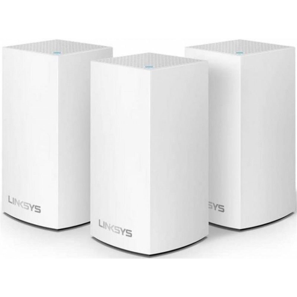 WiFi Mesh система LinkSys Velop VLP0103 (VLP0103-EU) (AC1200, MESH, 2xGE WAN/LAN, BT 4.1, бел. 3-pack)