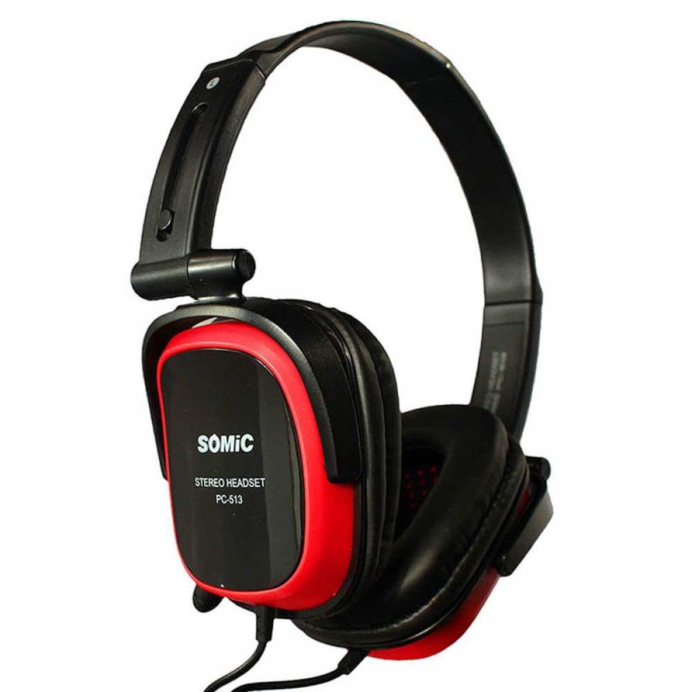 Гарнитура Somic PC513 Black/Red (9590009027)