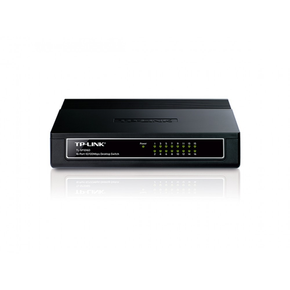 Коммутатор TP-Link TL-SF1016D (16х10/100 Мбит, настольный)