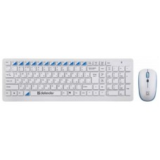 Комплект беспроводной (клавиатура, мышь) Defender Skyline 895 Nano White (45895) USB