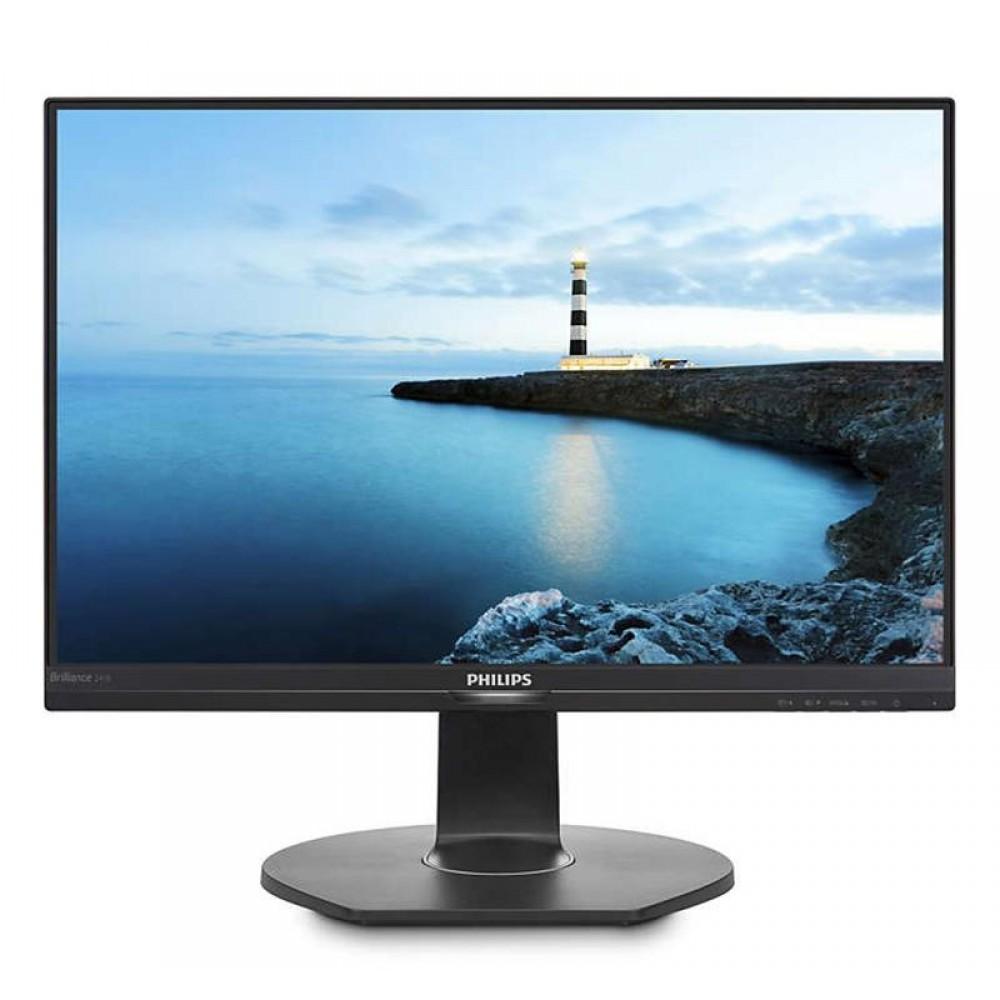 """Монитор Philips 23.8"""" 241B7QPJEB/00 IPS Black; 1920x1080, 250 кд/м2, 5 мс, HDMI, DisplayPort, D-Sub, USB3.0, динамики 2х2Вт"""