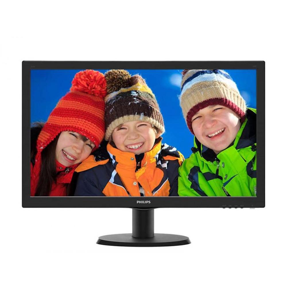 "Монитор Philips 23.6"" 243V5QHABA/00 MVA Black; 1920x1080, 8 мс, 250 кд/м, D-Sub, DVI-D, HDMI, динамики 2х2 Вт"