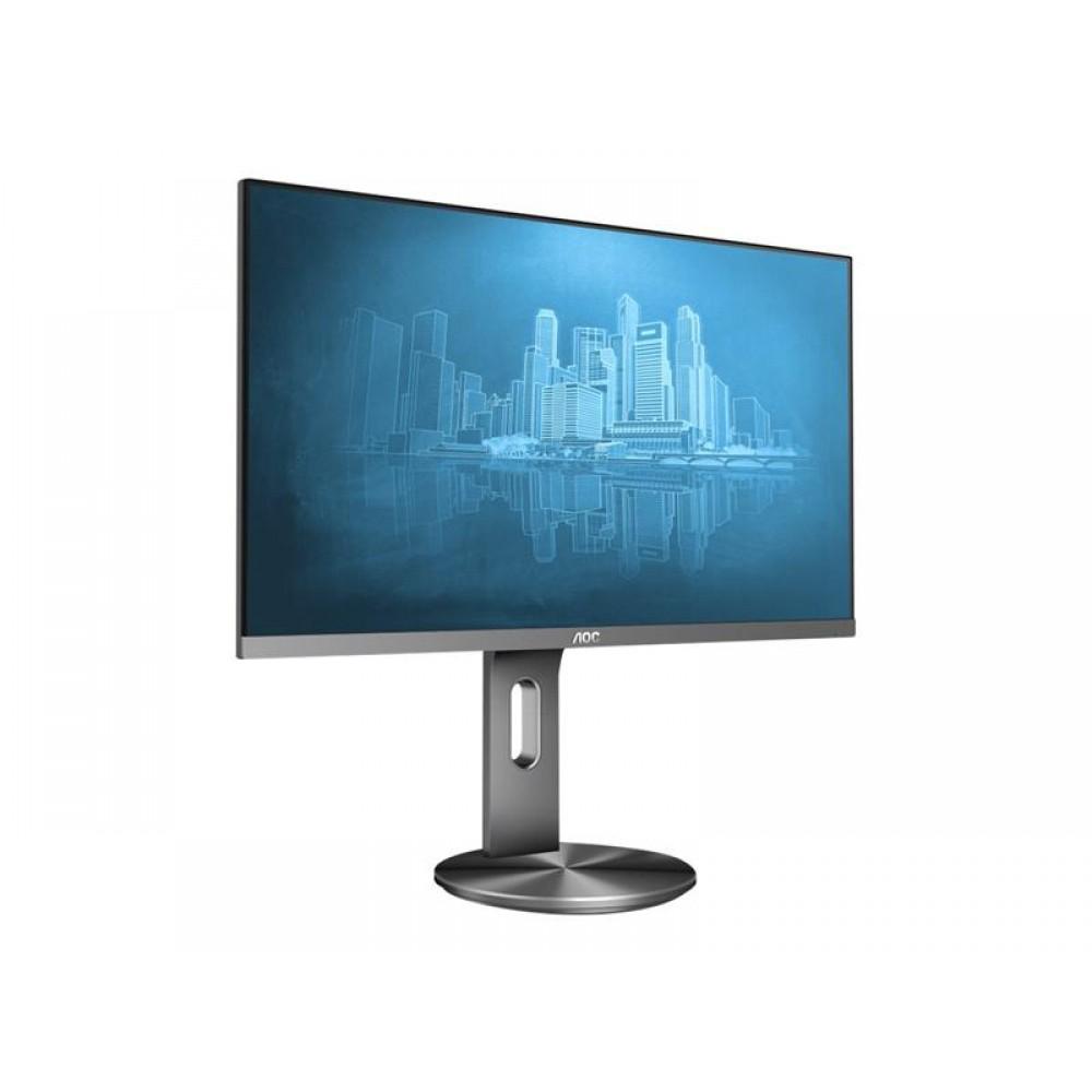 """Монитор AOC 23.8"""" I2490PXQU/BT IPS Silver; 1920х1080, 4 мс, 250 кд/м2, D-Sub, HDMI, DisplayPort, 4хUSB3.0, динамики 2х2 Вт"""