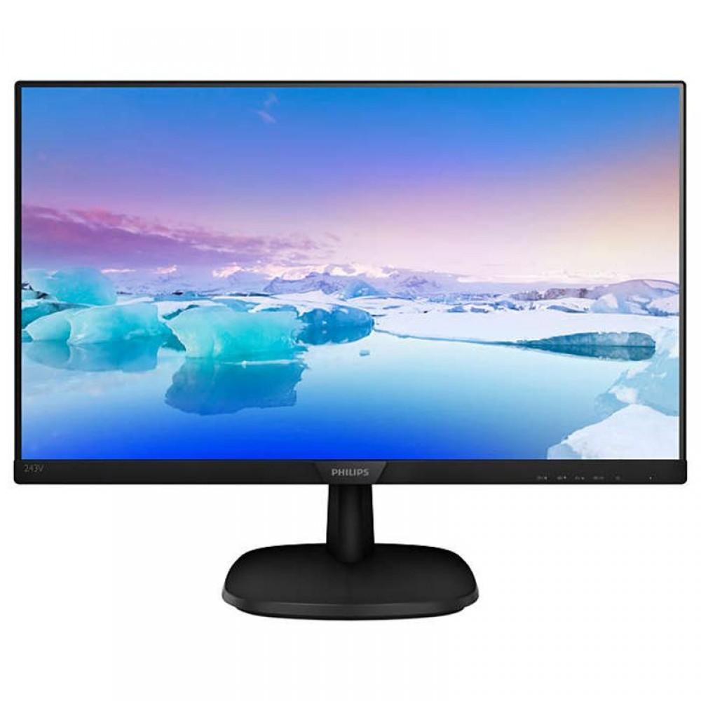 "Монитор Philips 23.8"" 243V7QJABF/00 IPS Black; 1920x1080, 5 мс, 250 кд/м2, D-Sub, HDMI, DisplayPort, динамики 2х2 Вт"