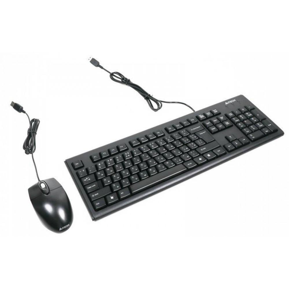 Комплект (клавиатура, мышь) A4Tech KRS-8372 Black USB