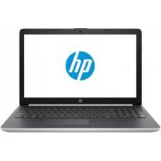 """Ноутбук HP 15-da0482ur (8TY00EA); 15.6"""" FullHD (1920x1080) TN LED матовый / Intel Celeron N4000 (1.1 - 2.6 ГГц) / RAM 4 ГБ / SSD 256 ГБ / Intel UHD 600 Graphics / без ОП / LAN / Wi-Fi / BT / веб-камера / DOS / 1.77 кг / серебристый"""