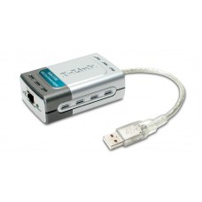 Сетевой адаптер D-Link DUB-E100 1port 10/ 100BaseTX, USB 2.0