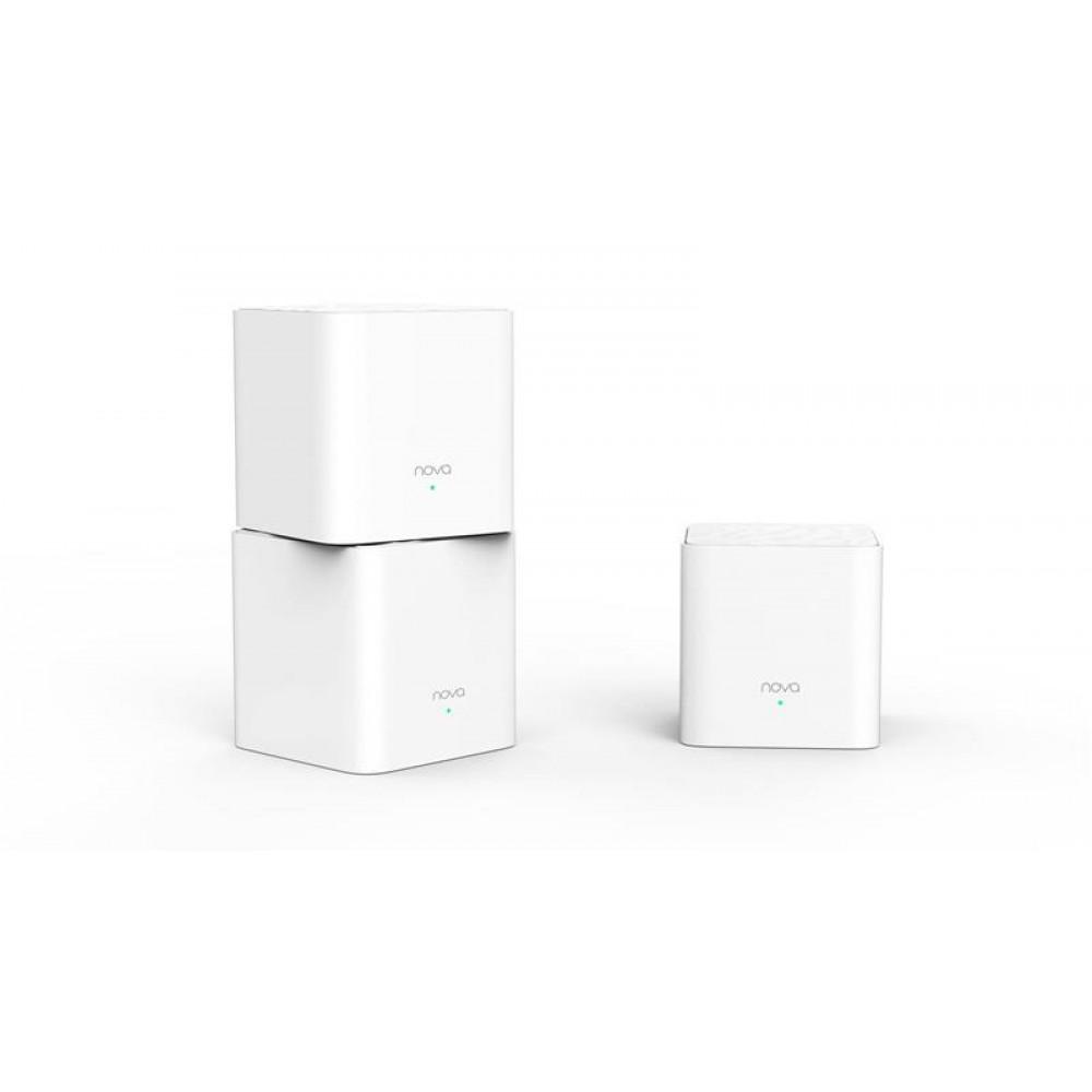 WiFi Mesh система Tenda Nova MW3 (MW3-KIT-3) (AC1300, 1xFE WAN, 1xFE LAN, Beamforming, MESH, 2 антенны, 3-pack)