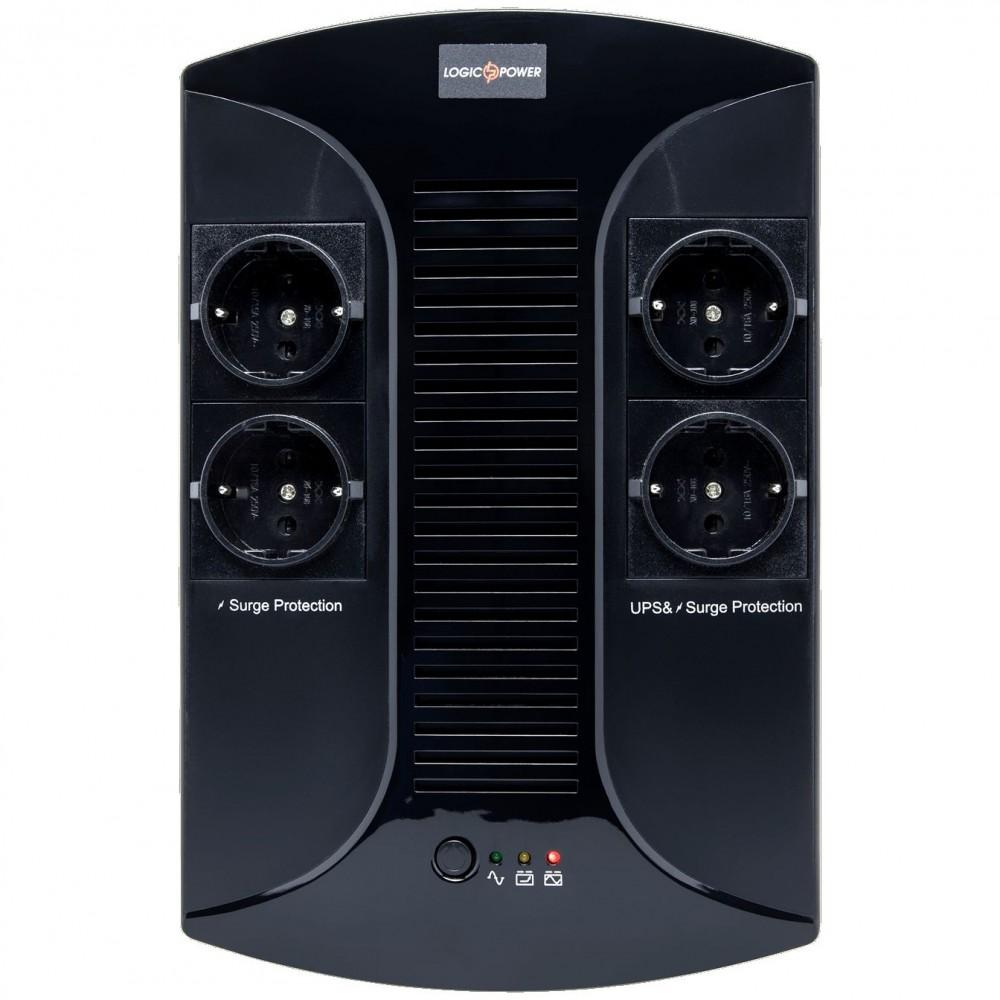 ИБП LogicPower 850VA-PS, Lin.int., AVR, 4 x евро, пластик