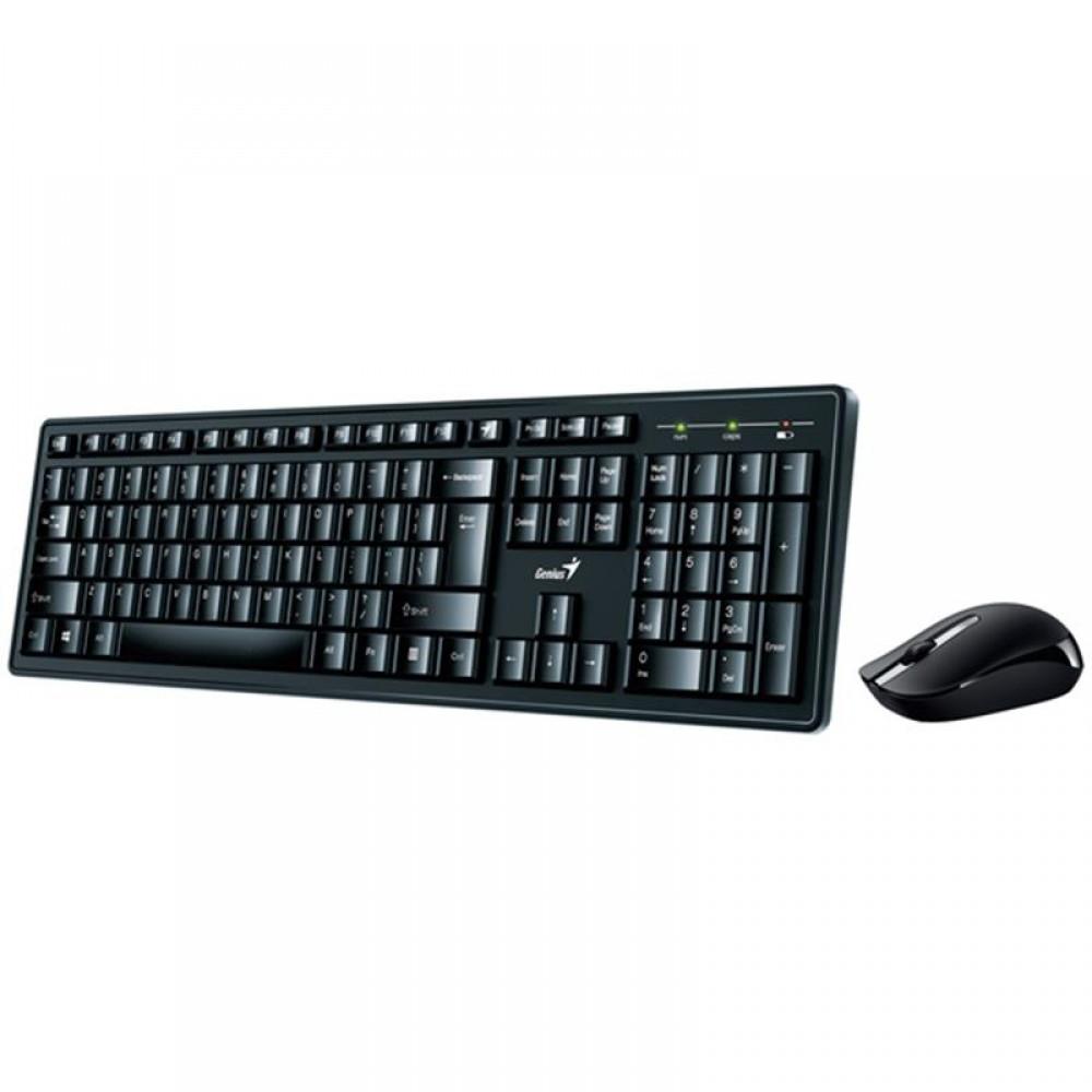 Комплект беспроводной (клавиатура, мышь) Genius Smart KM-8200 (31340003410) Ukr Black USB