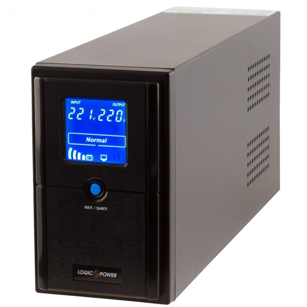 ИБП LogicPower LPM-L825VA, Lin.int., AVR, 2 x евро, LCD, металл