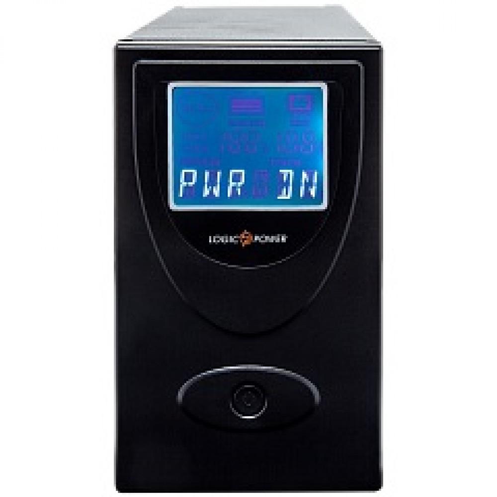 ИБП LogicPower UL650VA, Lin.int., AVR, 2 x евро, USB, LCD, металл