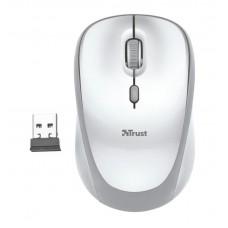 Мышь беспроводная Trust Yvi (23386) White-Silver USB