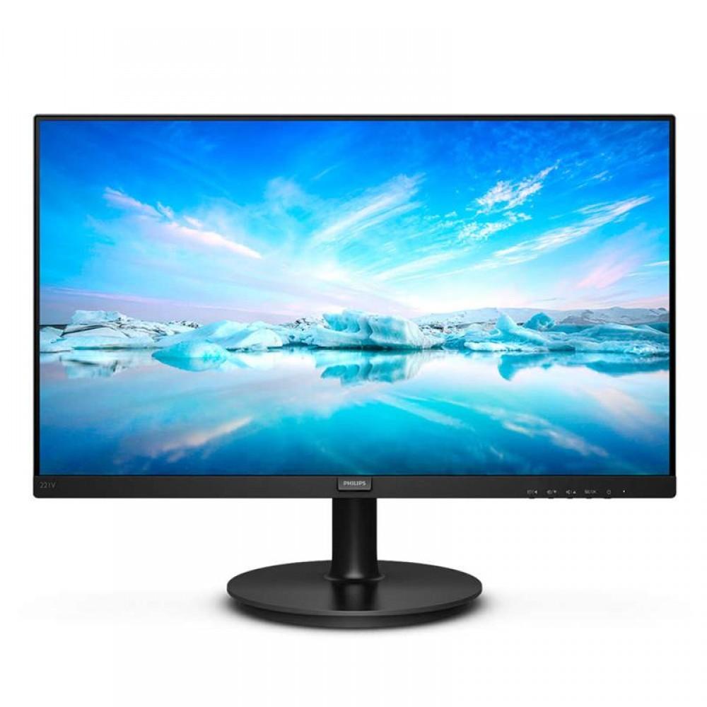 """Монитор Philips 21.5"""" 221V8A/00 VA Black; 1920x1080, 200 кд/кв.м, 4 мс, HDMI, D-Sub, динамики 2х2 Вт"""