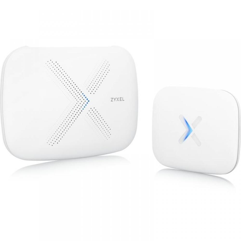 WiFi Mesh система ZYXEL Multy X (WSQ50 + WSQ20) (AC3000, 1xGE WAN, 3xGE LAN, Tri-Band, MU-MIMO, 1xUSB2.0, MESH, 2-pack)