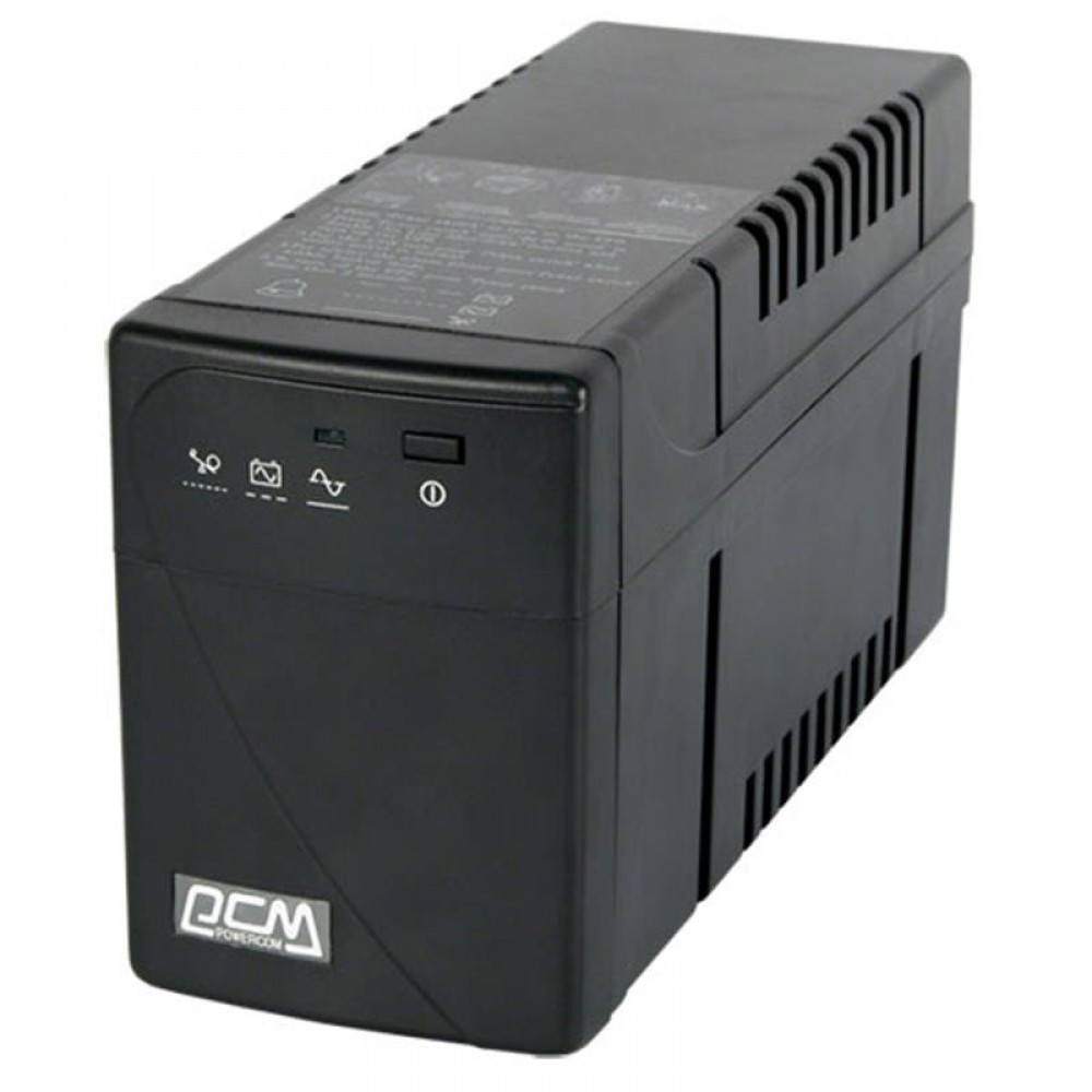 ИБП Powercom BNT-600AP, Lin.int., AVR, 2 x IEC, USB, пластик  (00210085)