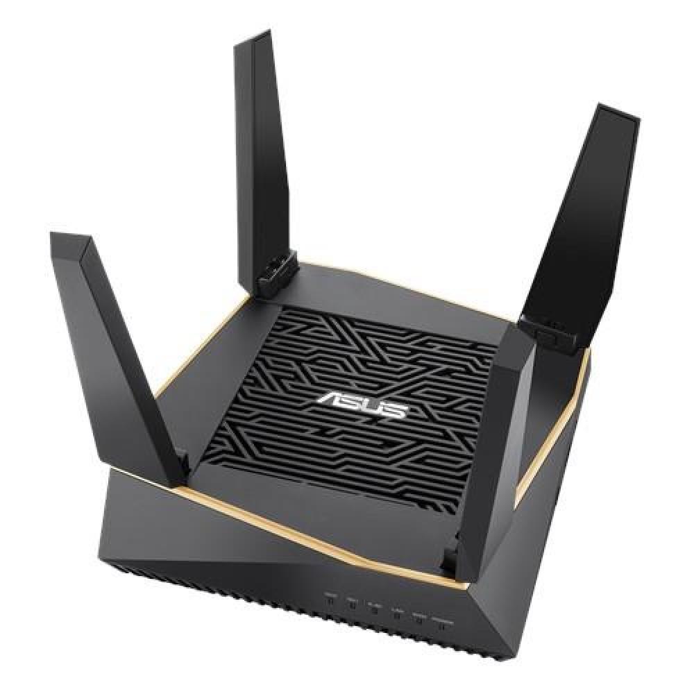 Беспроводной маршрутизатор Asus RT-AX92U (AX6100, 4xGE LAN, 1xGE WAN, 1xUSB3.1, 1xUSB2.0, MU-MIMO, 6 антенн, WiFi6, AiMesh, Gaming, OFDMA)