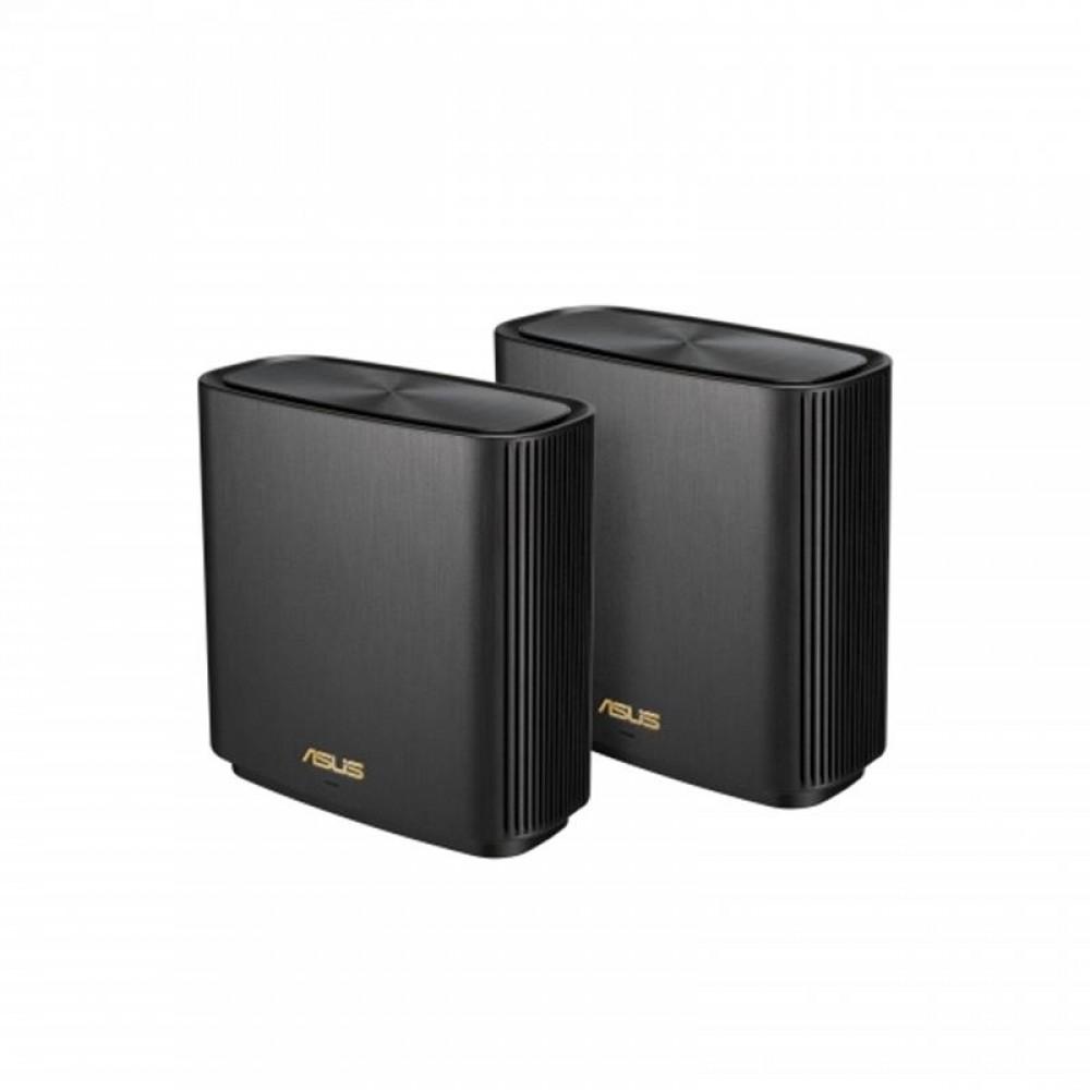 Беспроводной маршрутизатор Asus ZenWiFi XT8 2PK Black (XT8-2PK-BLACK) (AX6600, 3xGE LAN, 1x2.5GE WAN, 1xUSB3.1, WiFi6, MESH, WPA3, OFDMA, 6 антенны)