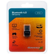 Bluetooth-адаптер Grand-X aptX BT40, CSR8510, V4.0/4.1, С 1.5