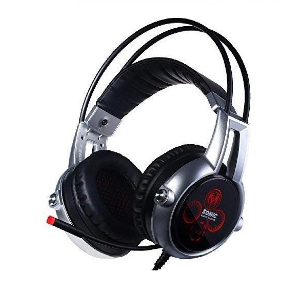 Гарнитура Somic E95x Black/Silver