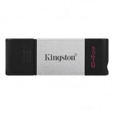 Флеш-накопитель USB3.2 64GB Type-C Kingston DataTraveler 80 Grey/Black (DT80/64GB)