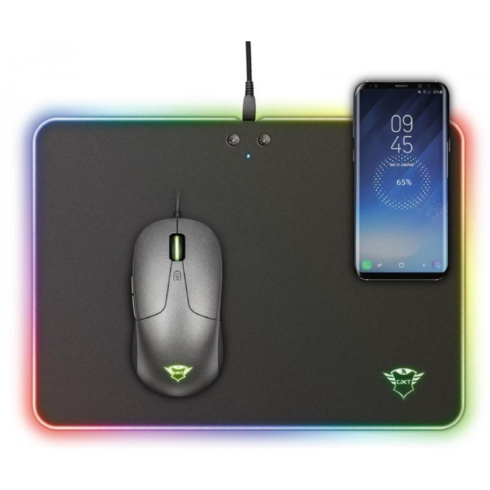Коврик для мыши Trust GXT 750 Qlide RGB Gaming Mouse Pad with wireless charging (23184)