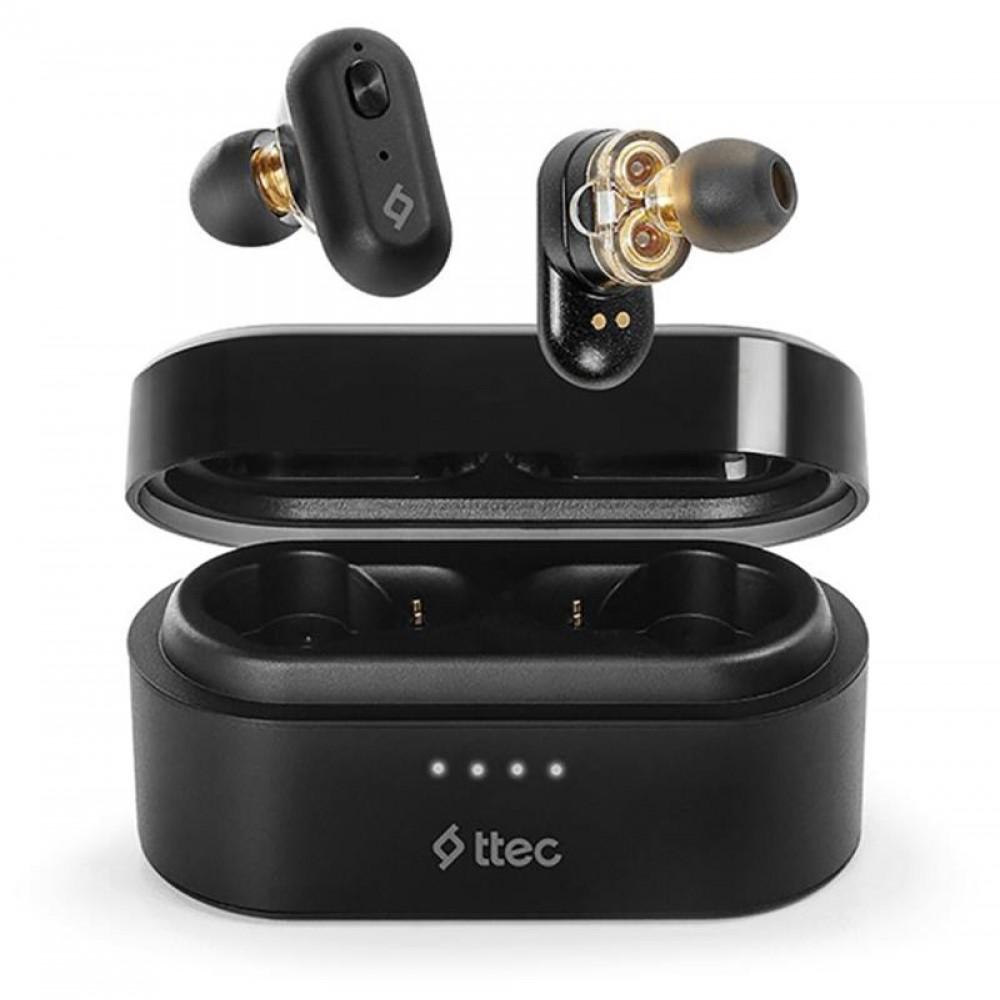 Bluetooth-гарнитура Ttec AirBeat Duo True Wireless Headsets Black (2KM127S)