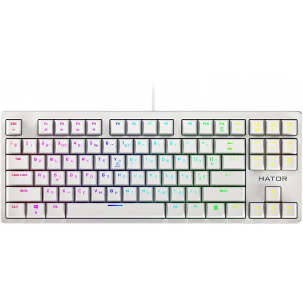 Клавиатура Hator Rockfall Evo TKL Optical ENG/UKR/RUS (HTK-631) White USB