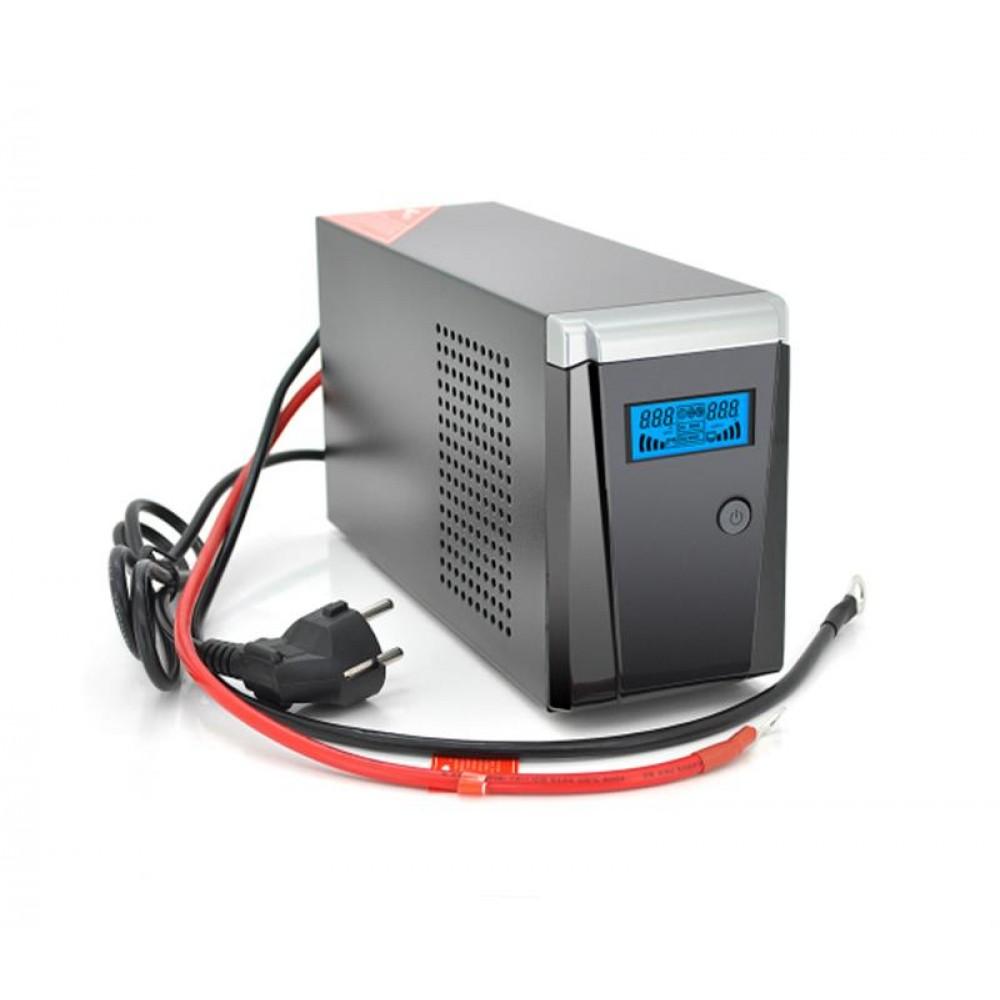 ИБП Ritar RTSW-500 LCD, Lin.int., 1xSchuko, металл (RTSW-500 LCD/11753)