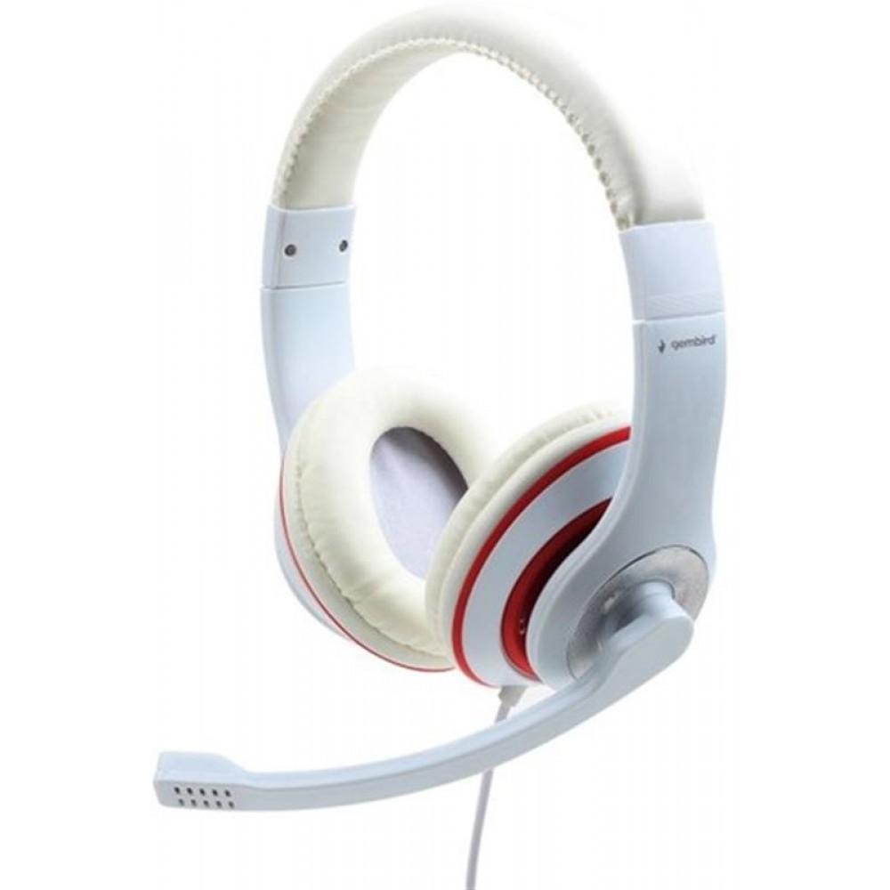 Гарнитура Gembird MHS-03-WTRD White/Red