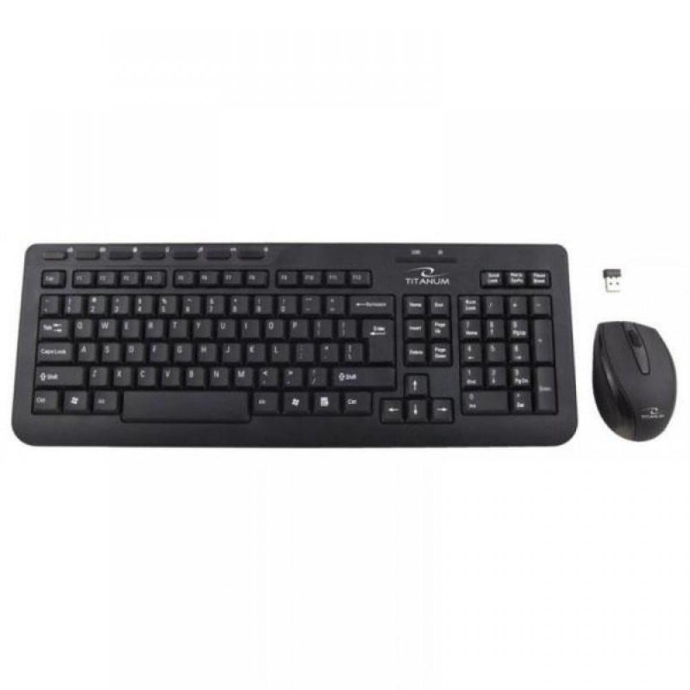 Комплект (клавиатура, мышь) беспроводной Esperanza Titanum Orlando TK104UA Black USB