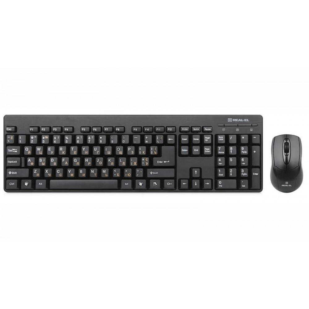 Комплект (клавиатура, мышь) REAL-EL Standard 503 Kit Black USB