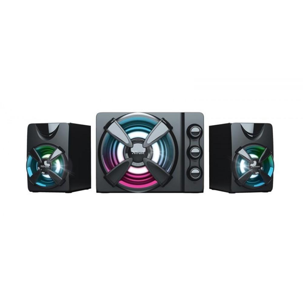 Акустическая система Trust 2.1 Ziva RGB Black (23644)