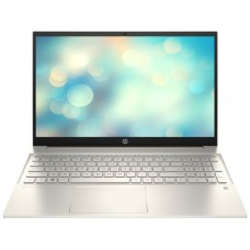 """Ноутбук HP Pavilion 15-eg0046ua (424C7EA); 15.6"""" FullHD (1920x1080) IPS LED матовый / Intel Pentium G7505 (2.0 - 3.5 ГГц) / RAM 8 ГБ / SSD 256 ГБ / Intel UHD Graphics / нет ОП / Wi-Fi / BT / веб-камера / DOS / 1.75 кг / золотистый / подсветка клавиат"""