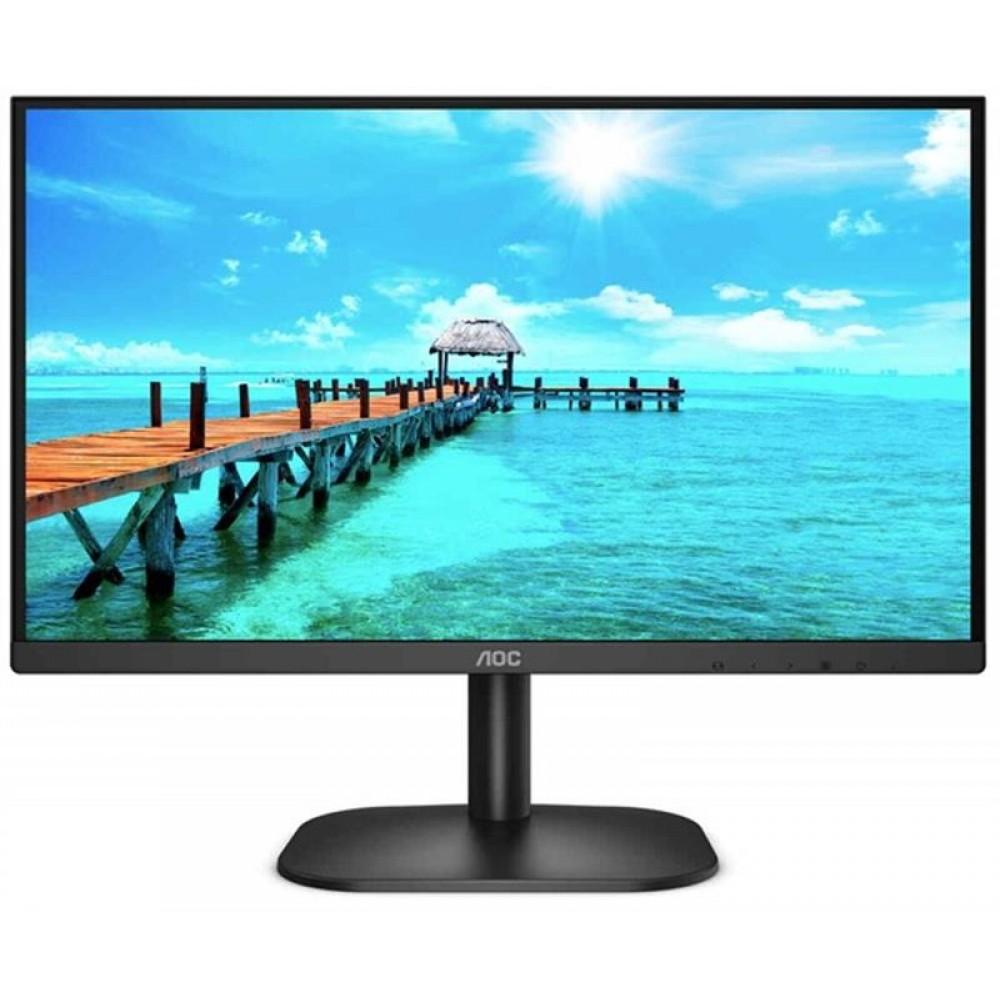 """Монитор AOC 23.8"""" 24B2XDA IPS Black; 1920х1080, 250 кд/м2, 4 мс, HDMI, DVI, D-Sub, динамики 2х2 Вт"""