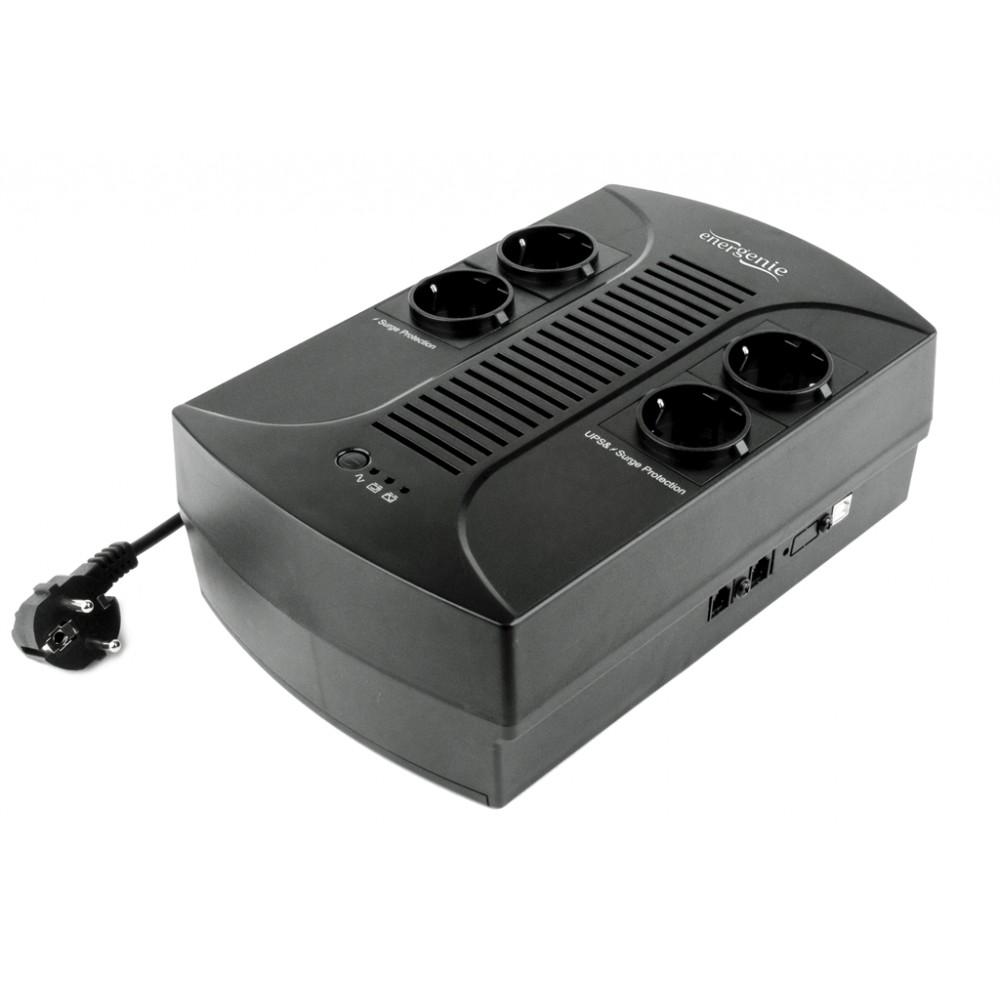 ИБП EnerGenie EG-UPS-001650VA, Line Int., AVR, 4 x Schuko, пластик
