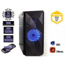 Рабочая станция DK™ Rapido E5-2697v2 / 16 Gb / SSD 120 Gb / HDD 1TB / GTX 1050Ti 4 Gb