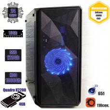 Рабочая станция DK™ Rapido II e5-2697v2 / 16Gb / HDD 1T/ SSD 120Gb / Quadro K2200 4Gb